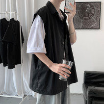 shirt Youth fashion Others M. L, XL, 2XL, s small, XS plus small White, black routine square neck Sleeveless easy Other leisure summer teenagers Cotton 100% tide 2021 other Linen No process cotton other Soft Gloss  More than 95%