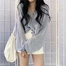 Wool knitwear Autumn 2020 One size fits all, s, m, l Apricot, blue, black 9213 Long sleeves singleton  Socket other 30% and below Thin money commute easy V-neck routine Solid color Socket Korean version 18-24 years old