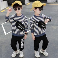 suit Other / other Navy, orange, navy with velvet, orange with velvet 90cm,100cm,110cm,120cm,130cm,140cm male spring and autumn Korean version Long sleeve + pants 2 pieces routine There are models in the real shooting Socket nothing other cotton children Expression of love 7856-09 Class B Huzhou City