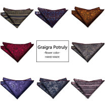 Pocket towel Broken flowers Gift box leisure time silk Yarn dyed weaving Common type (7cm-12cm) Graigra Potruly