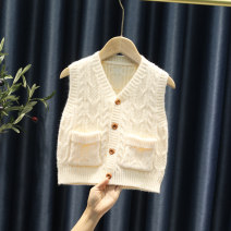 Vest neutral 80cm 90cm 100cm 110cm 120cm 130cm spring and autumn routine Single breasted leisure time Solid color Other 100% B-004 Spring 2021 Chinese Mainland 12 months, 18 months, 2 years old, 3 years old, 4 years old, 5 years old, 6 years old, 7 years old and 8 years old