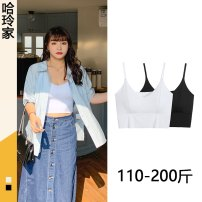 Women's large Summer 2021 Vest / sling other Self cultivation Solid color other have cash less than that is registered in the accounts nylon other SC61187 18-24 years old 81% (inclusive) - 90% (inclusive) other other One size fits all Black, white