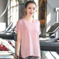 Women's large Summer of 2018 T-shirt singleton  commute thin Socket Short sleeve Solid color Korean version 25-29 years old Viscose fiber (viscose fiber) 65% polyester fiber 30% polyurethane elastic fiber (spandex) 5% Pure e-commerce (online only)