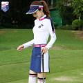 Golf apparel Coat white, coat + trousers, trousers Baolan, skirt Baolan, coat + skirt L,XL,M,S,XXL female ZG-6 Long sleeve T-shirt Y6003