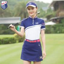 Golf apparel Top white, skirt blue, top + skirt S,M,L,XL female ZG-6 t-shirt  Y9805