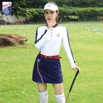 Golf apparel Top white, skirt blue, top + skirt S,M,L,XL,XXL female ZG-6 Long sleeve T-shirt Y6701