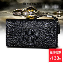 wallet Long Wallet cowhide herrtuny 5788 without wrist strap 5788 with wrist strap brand new Europe and America male zipper Solid color 80% off youth