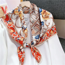 Scarf / silk scarf / Shawl polyester Champs iron rose black champs iron rose red Spring and summer female Scarves / scarves multi-function Korean version Large square towel Student youth middle age Geometric pattern printing 90cm 90cm Digesta SD-G70 Summer 2020