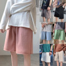 Casual pants Others Youth fashion White, light gray, dark gray, black, pink, green, blue M,L,XL,2XL,3XL routine Pant Other leisure easy summer teenagers tide 2020 Medium low back Sports pants Rough edge washing Solid color cotton cotton