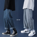 Jeans Youth fashion Others S,M,L,XL,2XL Dark blue, light blue routine trousers Other leisure autumn youth 2020 Straight foot zipper