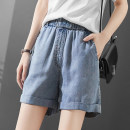 Jeans Summer 2021 Gray blue 26/S,27/M,28/L,29/XL,30/2XL,31/3XL shorts Natural waist Straight pants light colour TM - T3 . 30XN12375L - Y - 0406 Mapping / Mapin 96% and above