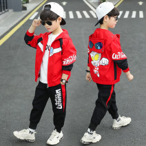 suit Hip hop Genie 110cm 120cm 130cm 140cm 150cm 160cm male spring and autumn Korean version Long sleeve + pants 2 pieces routine There are models in the real shooting Zipper shirt No detachable cap Cartoon animation cotton children Giving presents at school UJT11158 Class B Other 100% Spring 2021