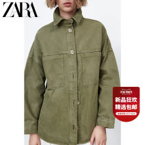 shirt khaki XS (160/80A) S (165/84A) M (170/88A) L (175/96A) XL (175/100A) Summer 2021 cotton 96% and above Long sleeves commute Regular Polo collar Single row multi button routine Solid color 25-29 years old Straight cylinder ZARA Simplicity 04979040505-30 Button Cotton 100% pure cotton