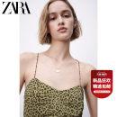 Dress Summer 2021 khaki XS (160/80A) S (165/84A) M (170/88A) L (175/96A) XL (175/100A) Middle-skirt singleton  Sleeveless Sweet Socket 25-29 years old Type H ZARA printing 08351030505-30 More than 95% polyester fiber Polyester 100% Ruili