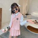 suit Princess Yuanyuan Pink (Vest + shirt + tie + skirt) The recommended height is about 100-110cm for Size 110, 110-120cm for Size 120, 120-130cm for Size 130, 130-140cm for size 140, 140-150cm for size 150 and 150-160cm for size 160 female spring and autumn Korean version Sleeveless + skirt routine