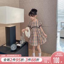 Dress khaki female Princess Yuanyuan 110cm,120cm,130cm,140cm,150cm,160cm Other 100% summer Korean version Short sleeve Solid color other Princess Dress Class B 7, 8, 14, 3, 6, 13, 11, 5, 4, 10, 9, 12 Chinese Mainland