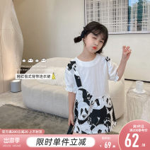 Dress white female Princess Yuanyuan The recommended height is about 90-100cm for size 100, 100-110cm for Size 110, 110-120cm for Size 120, 120-130cm for Size 130, 130-140cm for size 140, 140-150cm for size 150, 150-160cm for size 160, m and L Cotton 100% summer Korean version Short sleeve cotton