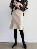 skirt Autumn 2020 XS S M L XL XXL XXXL Black Beige Middle-skirt commute High waist Ruffle Skirt Solid color 25-29 years old 81% (inclusive) - 90% (inclusive) deborah  polyester fiber Lotus leaf edge Polyester fiber 83.8% viscose fiber (viscose fiber) 15.2% polyurethane elastic fiber (spandex) 1%