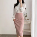 skirt Spring of 2019 XS S M L XL XXL XXXL Mid length dress Versatile High waist skirt Solid color Type H 25-29 years old 91% (inclusive) - 95% (inclusive) other deborah  polyester fiber Polyester fiber 91% polyurethane elastic fiber (spandex) 9% Pure e-commerce (online only)