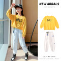 suit Other / other White, yellow, red 110cm,120cm,130cm,140cm,150cm,160cm female spring and autumn leisure time Long sleeve + pants 2 pieces routine There are models in the real shooting Socket No detachable cap Solid color other elder Expression of love Class B Other 100% Chinese Mainland
