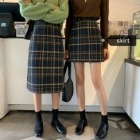 skirt Winter 2020 S,M,L Short, long Mid length dress High waist Type A 18-24 years old 10-10
