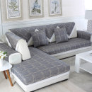 Sofa cover / towel Check blue check yellow Combination suit Simple and modern lattice Sectional sofa Others Art home textile gz-001