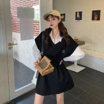 Fashion suit Spring 2021 L [recommended 100-120 kg], XL [recommended 120-140 kg], 2XL [recommended 140-160 kg] White shirt, pink vest skirt, black vest skirt, grey vest skirt 18-25 years old
