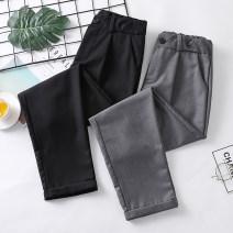 Suit pants / suit pants S,M,L,XL,2XL,3XL,4XL,5XL Black, dark grey Autumn of 2019 Capris / Capris