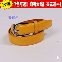 Belt / belt / chain Double skin leather female belt Versatile Single loop Children, youth, youth, middle age Pin buckle Glossy surface Patent leather 2.8cm stainless steel