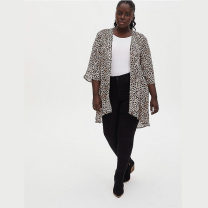 Women's large Spring 2021, summer 2021, autumn 2021 Figure 1, figure 2 Us 1 / 2, US 2 Other oversize styles singleton  street easy moderate Cardigan elbow sleeve other Medium length polyester Three dimensional cutting routine 3-6-16 96% and above Europe and America