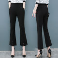 Casual pants Black [trousers] black [Capris] white [trousers] white [Capris] S M L XL 2XL 3XL 4XL Summer 2020 Ninth pants Flared trousers High waist routine SDL5018F Sutherland  Other 100%