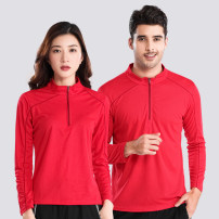 Quick drying T-shirt lovers Pastore1908 101-200 yuan Female m female l female XL female 2XL female 3XL female 4XL female 5XL male l male XL male 2XL male 3XL male 4XL male 5XL Long sleeves Wind proof, UV proof, breathable and quick drying Autumn of 2019 stand collar China easy polyester fiber other