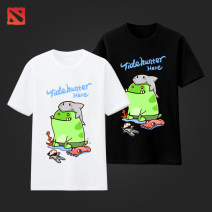 T-shirt Youth fashion routine S,M,L,XL,2XL,3XL,4XL,XS Others Short sleeve Crew neck standard Other leisure summer Tide Hunter Cotton 100% teenagers routine tide Cotton wool 2019 tide printing cotton Creative interest Printing / hot stamping Non brand