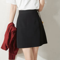 skirt Summer 2021 27 28 29 30 Dark purple black green Short skirt commute High waist A-line skirt Solid color Type A 30-34 years old CT03121410 More than 95% Wool CATHYLADI / Cass · Lardy other zipper Other 100%