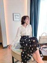 Fashion suit Spring 2021 S,M,L Shirt + skirt (stock) 2-piece set