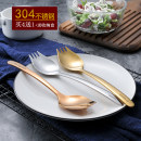 Spoon Set / fork chopsticks Chinese Mainland Metal A high-profile titanium gold, a romantic rose gold, a cool black gold queenlife Self made pictures M10050 the post-90s generation coulorful Korean version Daily gift giving One zero point one five