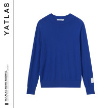 T-shirt / sweater Yatlas Youth fashion blue 165/S 170/M 175/L 180/XL 185/XXL routine Socket Crew neck Long sleeves YY120013A Straight cylinder Wool 100% leisure time tide youth routine other Spring of 2019 Same model in shopping mall (sold online and offline)