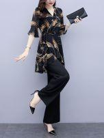 Women's large Summer 2021 917 black suit M [within 100 Jin], l [100-110 Jin], XL [110-120 Jin], XXL [120-140 Jin], 3XL [140-160 Jin], 4XL [160-180 Jin]