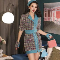 Fashion suit Autumn of 2019 Xs, s, m, l, average size Peacock blue, HAT + gloves, peacock blue pre-sale, HAT + gloves pre-sale 25-35 years old 51% (inclusive) - 70% (inclusive)