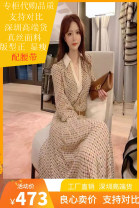 Dress Winter 2020 Picture color (priority for collection and purchase) S,M,L,XL longuette singleton  Long sleeves commute Polo collar High waist lattice Socket A-line skirt routine Type A silk
