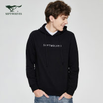 Sweater Fashion City Septwolves 001 black 003 medium grey 101 Navy 403 jujube 165/84A/M 170/88A/L 175/92A/XL 180/96A/XXL 185/100A/XXXL 190/104A/XXXXL Solid color Socket routine Hood autumn Straight cylinder leisure time youth Business Casual routine 1D1A10603658-301775 other cotton Embroidery