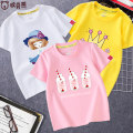 T-shirt Ouberbears / oberbears female summer Short sleeve Crew neck leisure time No model nothing Pure cotton (100% cotton content) Cartoon animation Cotton 100% Class B Sweat absorption Summer 2021 Chinese Mainland Guangdong Province