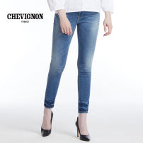 Jeans Spring of 2018 Ninth pants low-waisted Pencil pants routine 25-29 years old Wash and whiten Cotton elastic denim CHEVIGNON 96% and above Cotton 98.7% polyurethane elastic fiber (spandex) 1.3% Pure e-commerce (online only)