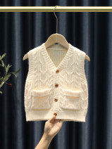 Vest neutral 80cm,90cm,100cm,110cm,120cm,130cm Other / other spring and autumn routine Single breasted leisure time Solid color Other 100% B-004 Chinese Mainland 12 months, 18 months, 2 years old, 3 years old, 4 years old, 5 years old, 6 years old, 7 years old, 8 years old