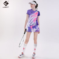 Badminton wear female Lead the way Football suit S6082+C6135 Spring 2021 yes Same model in shopping malls (both online and offline) One piece T-shirt romance suit S M L XL XXL XXXL