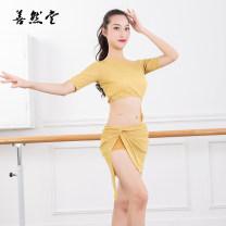 Belly Dance suit (performance dress) Shanran Hall Gray blue turmeric black M L XL XXL female DLB7025 Netting Summer 2020