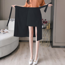 skirt Spring 2021 S M L XL ① Black [breasted popular main picture, 50% people choose] black [split straight tube version, 20% people choose] black [irregular a version, 30% people choose] Mid length dress Versatile High waist skirt Solid color Type H MJN200702B5326 91% (inclusive) - 95% (inclusive)