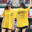 T-shirt M L XL XXL Summer 2021 Short sleeve Crew neck easy Medium length routine commute cotton 96% and above 25-29 years old Korean version originality Cartoon letters Shishangjf / Fashion liberation printing Cotton 100% Pure e-commerce (online only)