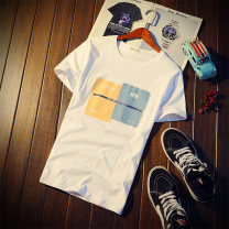 T-shirt Youth fashion routine M L XL XXL XXXL 4XL Ekado Short sleeve Crew neck Self cultivation Other leisure summer Cotton 100% teenagers routine tide Cotton wool Summer 2017 Cartoon animation printing cotton Color world No iron treatment Fashion brand More than 95%