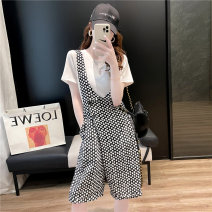 Fashion suit Loytio / Lotio LDO14341 Cotton 72% polyester 25.5% polyurethane elastic fiber (spandex) 2.5% Pure e-commerce (online sales only) Summer 2021 18-25 years old White black grey